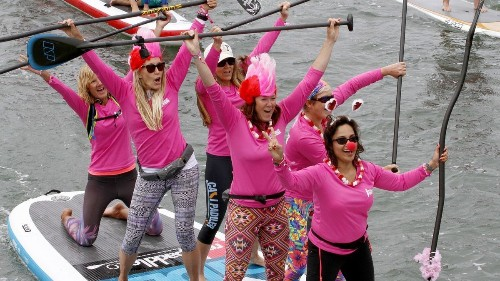 Around Town: More than 1,000 expected to form a 'Sea of Pink' for breast cancer awareness paddle-out