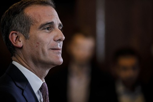 Los Angeles Mayor Eric Garcetti in Jerusalem: 'I support the embassy being here'