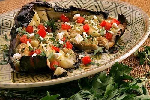 Recipe: Kuzina's butterflied roasted eggplant salad - Los Angeles Times