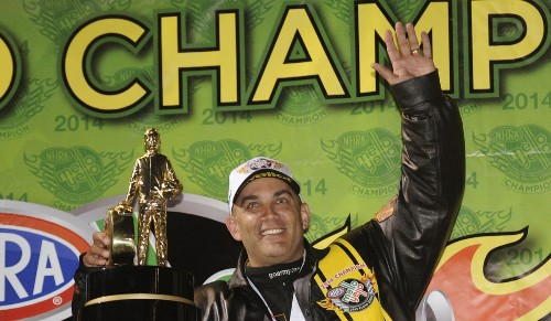 Tony Schumacher wraps up his eighth NHRA season title in top fuel