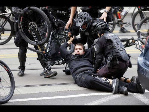 Police call Seattle May Day rally a riot; 3 officers hurt, 15 protesters arrested