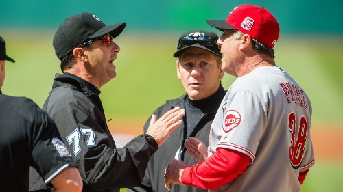 Cincinnati Reds Manager Bryan Price ejected before start of game