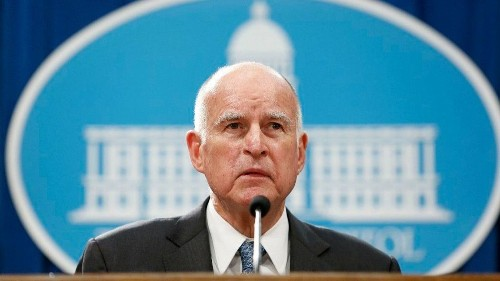 'If Trump is left to his own devices, he will cause serious damage that will cost lives,' Gov. Brown warns