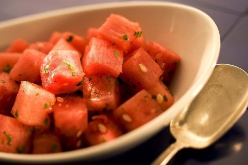 Recipe: Watermelon with mint and lime