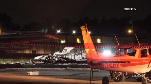 Pilot killed in small-plane crash at Fullerton Municipal Airport