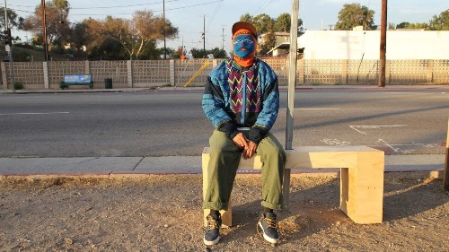 Meet the anonymous artist installing bus benches at neglected stops on L.A.'s Eastside - Los Angeles Times