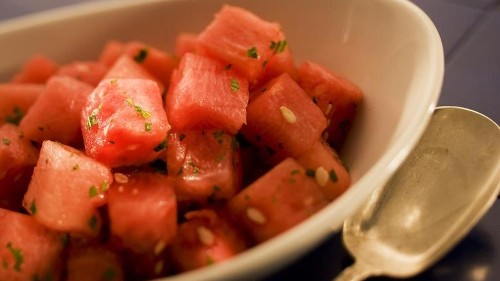 This watermelon salad recipe could be the easiest summer dish ever