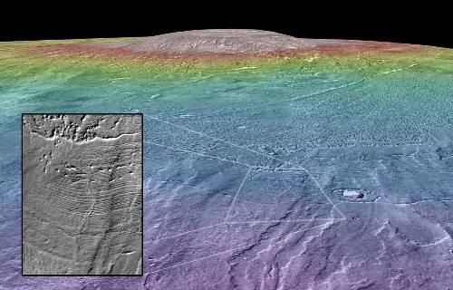 Giant volcano with glacier on Mars may have been a nice place for life