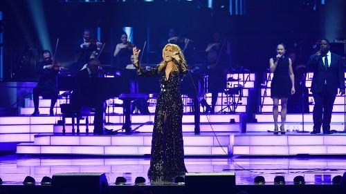 Emotional Celine Dion returns to Las Vegas stage for the first time since her husband died