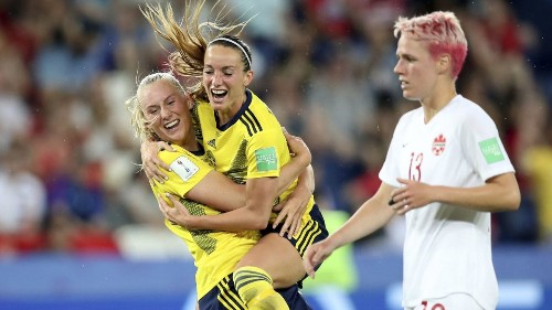Women's World Cup: Sweden defeats Canada to advance to quarterfinals