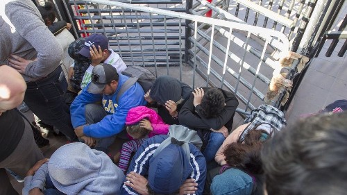 Members of Congress accompany asylum seekers to Otay Mesa Port of Entry - Los Angeles Times