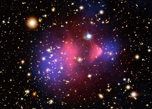 What a cluster: When dark matter collides, things get weird
