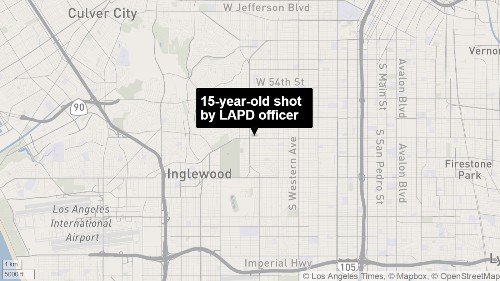 LAPD officer shoots, injures teen after seeing a replica gun - Los Angeles Times