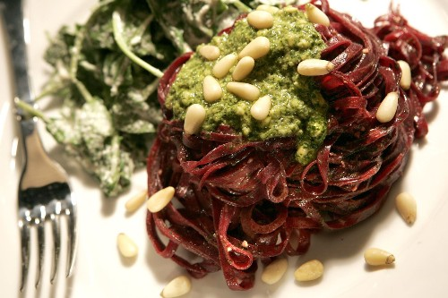 Looking for a spiralizer recipe? Try this vegan beet pasta with cilantro pesto - Los Angeles Times