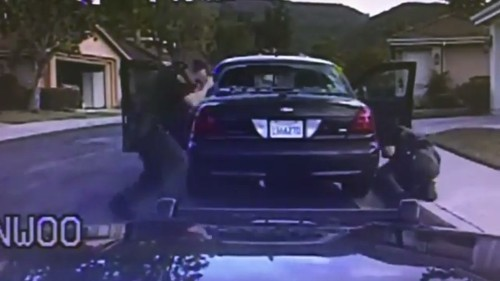 Video shows suicidal man firing at Orange County deputies - Los Angeles Times