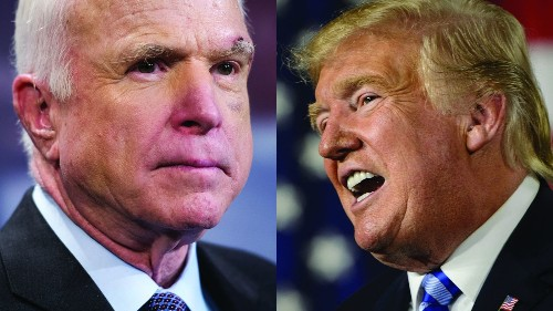 Bad blood between McCain and Trump lingered, even as Arizona Republican neared the end of his life