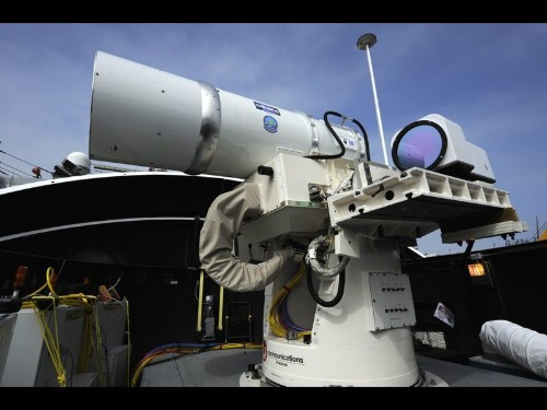 U.S. Navy to test laser weapon aboard ship in Persian Gulf