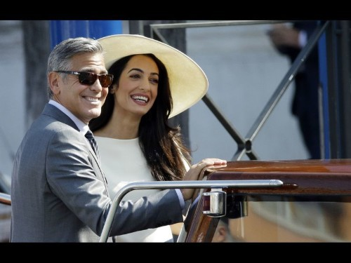 George Clooney and Amal Alamuddin's wedding weekend in full swing