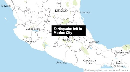Earthquake sways buildings in Mexico City, prompting evacuations
