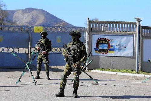 Ukrainian soldiers in Crimea reject Russian demands of allegiance