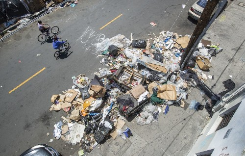 There's a trash and rodent nightmare in downtown L.A., and plenty of blame to go around