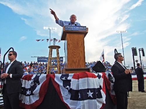 Bernie Sanders' sober social activism wins him fans in California
