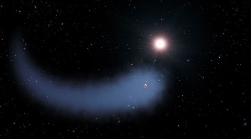Astronomers find 'comet's tail' trailing Neptune-sized exoplanet