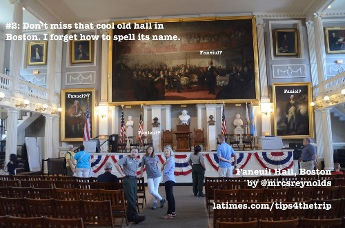 See this historic hall in Boston? Don't miss it. Or misspell it.