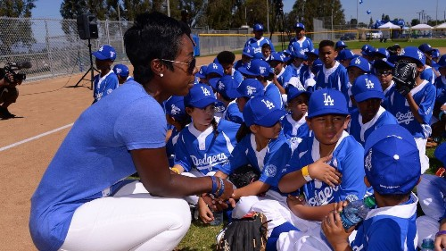Onetime Jackie Robinson scholarship recipient Nichol Whiteman helped the Dodgers Foundation find its swing - Los Angeles Times