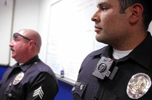 Amid outcry over police shootings, departments weighing cop cameras - Los Angeles Times