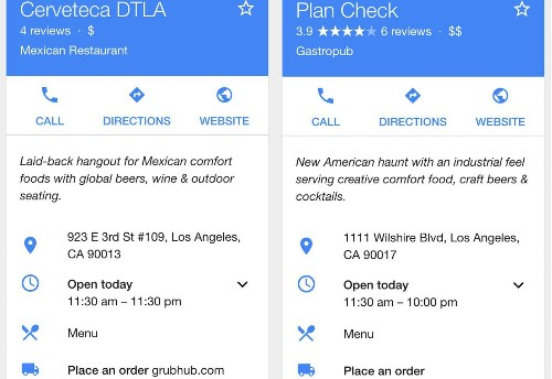 Google now lets you order food delivery, straight from search results