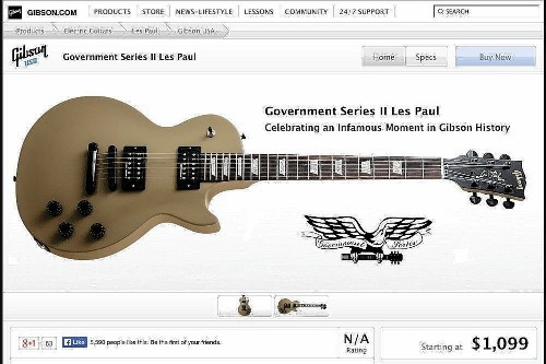 Gibson guitars made with government-seized wood are sold out