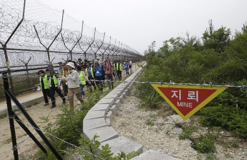 Come hike the demilitarized zone between the Koreas. Please watch your step