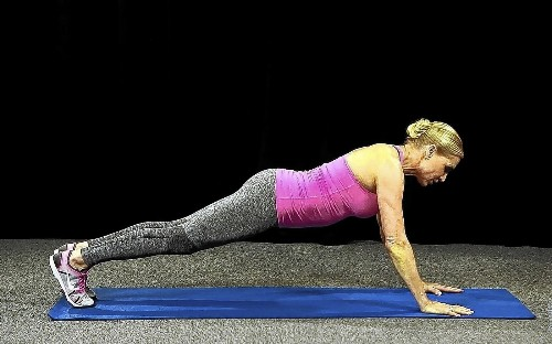 Plank position for beginners - Los Angeles Times