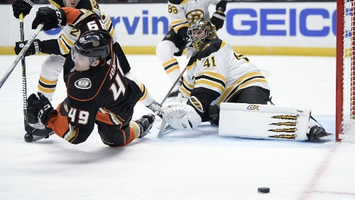 Ducks are shut out for sixth time this season in 3-0 loss to Bruins