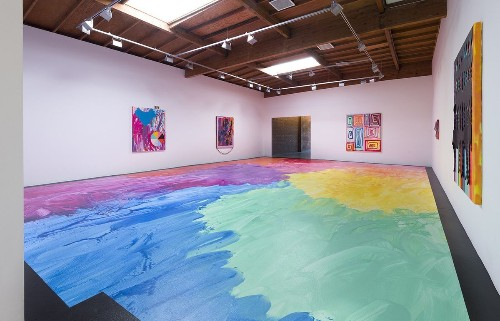 Review: Sarah Cain's 1,000-square-foot painting is just the start