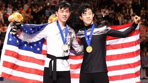 American champion Nathan Chen wins gold at figure skating world championships