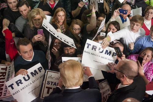 Donald Trump often says things that stretch the truth, but they fire up the faithful