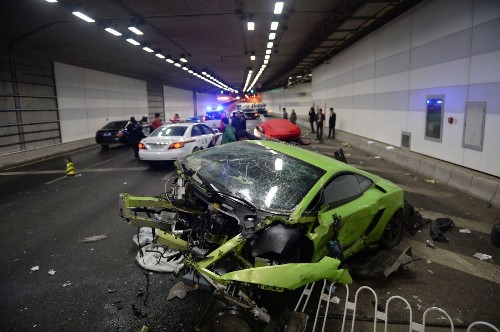 As 'Furious 7' roars into China, real-life crash smashes Lamborghini, Ferrari
