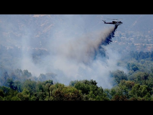 Prado Dam fire spreads to 1,020 acres; caused by unattended fire