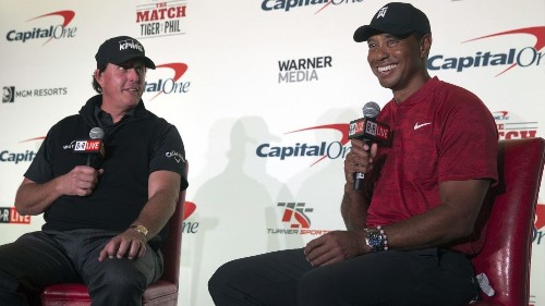 Phil Mickelson wants to bet $100,000 on birdying the first hole vs. Tiger. The response from Woods? 'Double it' - Los Angeles Times