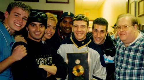 'N Sync's Lance Bass trains a lens on Lou Pearlman, the con man who made him a star