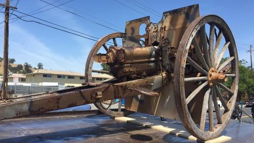 World War I-era cannon stolen from veterans hall returns home
