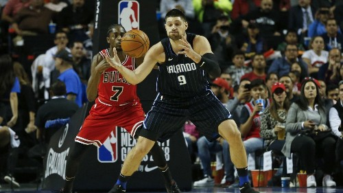 NBA: Nikola Vucevic leads Magic over Bulls 97-91 in Mexico City - Los Angeles Times