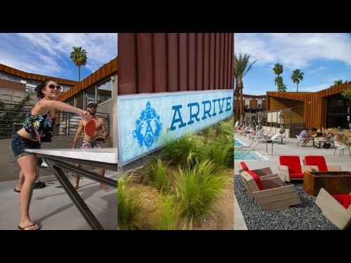 How hipster is this new Palm Springs hotel? You check in at the bar