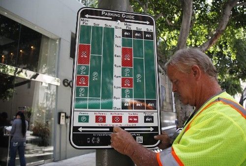 Confused about parking restrictions? Redesigned street signs may help - Los Angeles Times