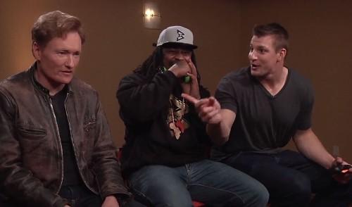 Marshawn Lynch, Rob Gronkowski battle in 'Mortal Kombat' on Conan