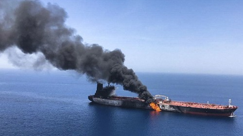Trump team weighs options against Iran after tanker explosions but downplays war threat