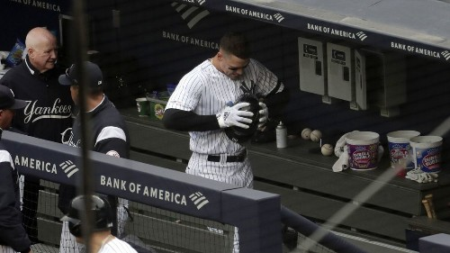 Yankees' Aaron Judge out indefinitely with oblique strain