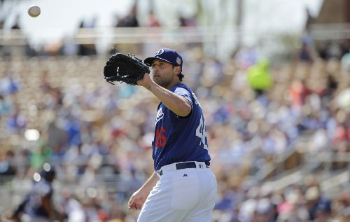 Mike Bolsinger suffers abdominal injury just minutes after being handed Dodgers' No. 5 starting spot - Los Angeles Times